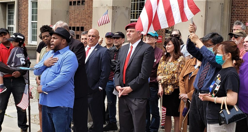 Republican Patriotswith Curtis Sliwa at Boro Hall, announce their 4-0 Appellate Court Victory